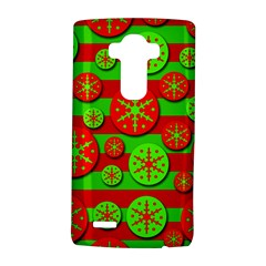 Snowflake Red And Green Pattern Lg G4 Hardshell Case by Valentinaart