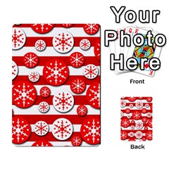 Snowflake Red And White Pattern Multi Purpose Cards (rectangle)  by Valentinaart