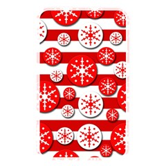 Snowflake Red And White Pattern Memory Card Reader by Valentinaart