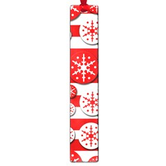 Snowflake Red And White Pattern Large Book Marks by Valentinaart