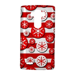 Snowflake Red And White Pattern Lg G4 Hardshell Case by Valentinaart