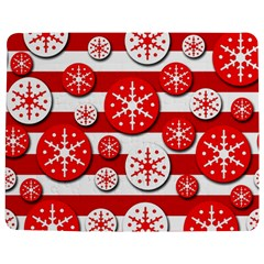 Snowflake Red And White Pattern Jigsaw Puzzle Photo Stand (rectangular) by Valentinaart