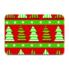 Christmas Trees Pattern Plate Mats by Valentinaart