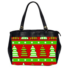 Christmas Trees Pattern Office Handbags (2 Sides)