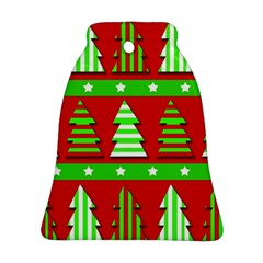 Christmas trees pattern Ornament (Bell)  by Valentinaart