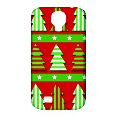 Christmas Trees Pattern Samsung Galaxy S4 Classic Hardshell Case (pc+silicone) by Valentinaart