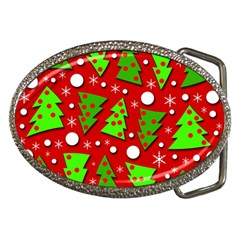 Twisted Christmas Trees Belt Buckles by Valentinaart