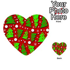 Twisted Christmas Trees Multi Purpose Cards (heart)  by Valentinaart