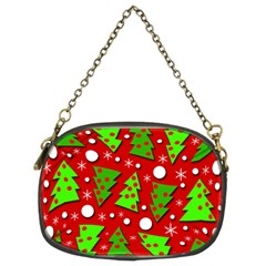 Twisted Christmas Trees Chain Purses (two Sides)  by Valentinaart