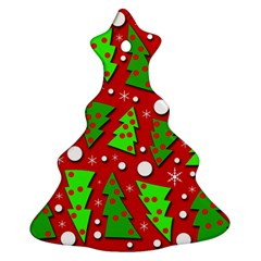 Twisted Christmas Trees Christmas Tree Ornament (2 Sides)