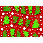 Twisted Christmas trees Peace Sign 3D Greeting Card (7x5) Back