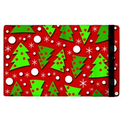 Twisted Christmas Trees Apple Ipad 3/4 Flip Case by Valentinaart