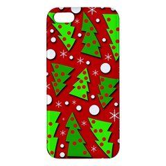 Twisted Christmas Trees Apple Iphone 5 Premium Hardshell Case by Valentinaart