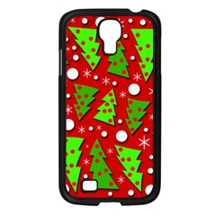 Twisted Christmas Trees Samsung Galaxy S4 I9500/ I9505 Case (black) by Valentinaart