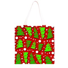 Twisted Christmas trees Grocery Light Tote Bag by Valentinaart