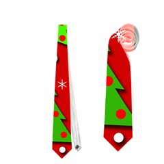 Christmas Trees And Gifts Pattern Neckties (one Side)  by Valentinaart