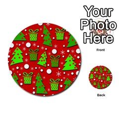 Christmas Trees And Gifts Pattern Multi Purpose Cards (round)  by Valentinaart