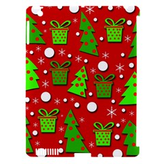 Christmas Trees And Gifts Pattern Apple Ipad 3/4 Hardshell Case (compatible With Smart Cover) by Valentinaart