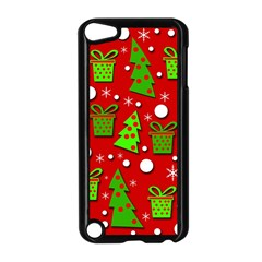 Christmas Trees And Gifts Pattern Apple Ipod Touch 5 Case (black) by Valentinaart