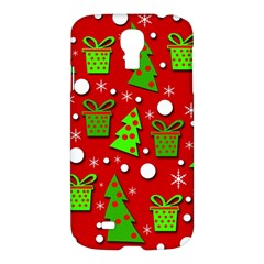 Christmas Trees And Gifts Pattern Samsung Galaxy S4 I9500/i9505 Hardshell Case by Valentinaart