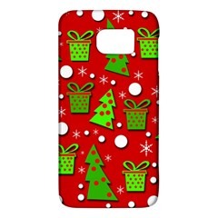 Christmas Trees And Gifts Pattern Galaxy S6