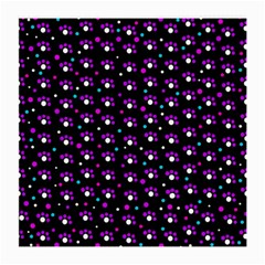 Purple Dots Pattern Medium Glasses Cloth by Valentinaart
