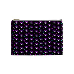 Purple Dots Pattern Cosmetic Bag (medium)  by Valentinaart