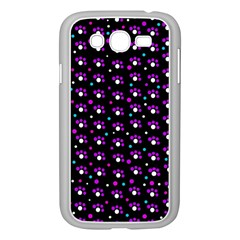 Purple Dots Pattern Samsung Galaxy Grand Duos I9082 Case (white) by Valentinaart