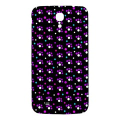 Purple Dots Pattern Samsung Galaxy Mega I9200 Hardshell Back Case by Valentinaart