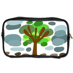 Tree Toiletries Bags 2 Side by Valentinaart