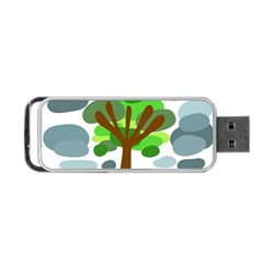 Tree Portable Usb Flash (two Sides) by Valentinaart