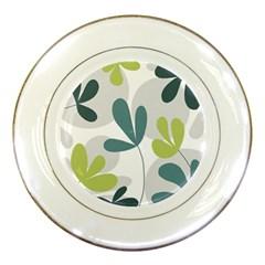 Elegant Floral Design Porcelain Plates by Valentinaart