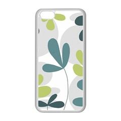 Elegant Floral Design Apple Iphone 5c Seamless Case (white) by Valentinaart