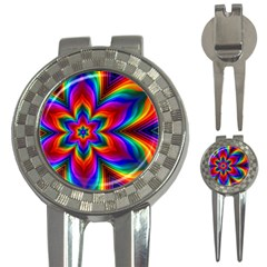 Rainbow Flower Golf Pitchfork & Ball Marker by KirstenStar