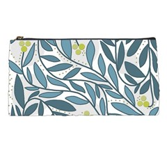 Blue Floral Design Pencil Cases by Valentinaart