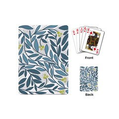 Blue floral design Playing Cards (Mini)  by Valentinaart