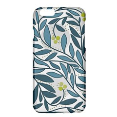 Blue Floral Design Apple Iphone 6 Plus/6s Plus Hardshell Case by Valentinaart
