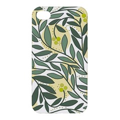 Green floral pattern Apple iPhone 4/4S Premium Hardshell Case