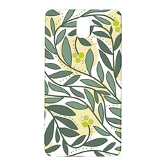 Green Floral Pattern Samsung Galaxy Note 3 N9005 Hardshell Back Case by Valentinaart