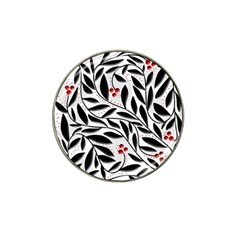 Red, Black And White Elegant Pattern Hat Clip Ball Marker (4 Pack) by Valentinaart
