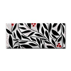 Red, Black And White Elegant Pattern Hand Towel by Valentinaart