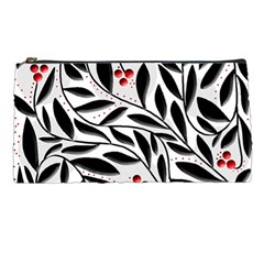 Red, Black And White Elegant Pattern Pencil Cases by Valentinaart