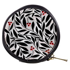 Red, Black And White Elegant Pattern Mini Makeup Bags by Valentinaart