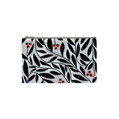 Red, Black And White Elegant Pattern Cosmetic Bag (small)  by Valentinaart