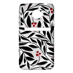 Red, black and white elegant pattern HTC Evo 4G LTE Hardshell Case