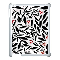 Red, Black And White Elegant Pattern Apple Ipad 3/4 Case (white) by Valentinaart