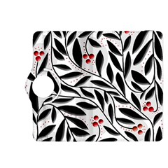 Red, Black And White Elegant Pattern Kindle Fire Hdx 8 9  Flip 360 Case by Valentinaart