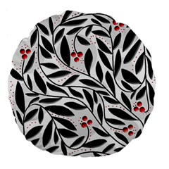Red, Black And White Elegant Pattern Large 18  Premium Flano Round Cushions by Valentinaart