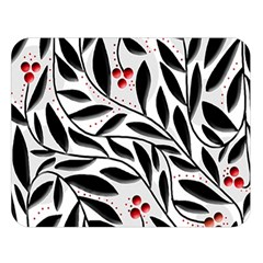 Red, Black And White Elegant Pattern Double Sided Flano Blanket (large)  by Valentinaart
