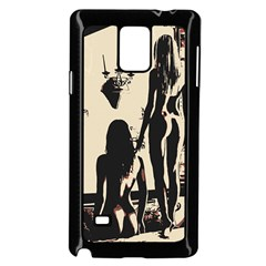 30 Sexy Conte Sketch Girls In Room Naked Ass Butts Shadows Samsung Galaxy Note 4 Case (black) by PeterReiss